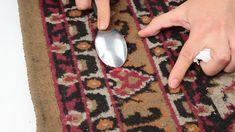 spoon on carpet