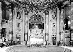 The magnificent Roxy Theatre, a *movie theater* that opened in New York in 1927. Demolished 1960.