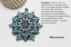 In Hungarian, but nice pix Beading Patterns Free, Beading Tutorials, Beaded Jewelry Designs, Jewelry Patterns, Super Duo Beads, Twin Beads, Beads And Wire, Bead Weaving, Jewelry Crafts