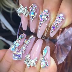 Nails done by: @ nails_by_annabel_m Swarovski crystals available on oceannails2.storenvy.com.