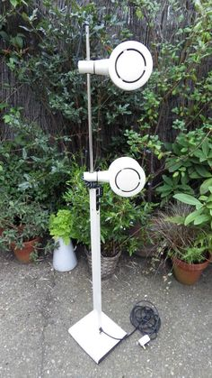 1960s RETRO Tall Standing ADJUSTABLE SPOTLIGHTS