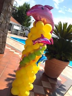 ballon art delfini