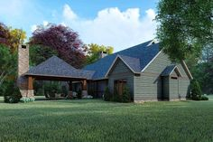 Country Plan: 2,050 Square Feet, 3 Bedrooms, 2 Bathrooms - 8318-00165 One Level House Plans, Small House Floor Plans, Dog Trot House Plans, Barn House Plans, Farmhouse Design, Farmhouse Style, Modern Farmhouse, Architectural Design House Plans, Architecture Design