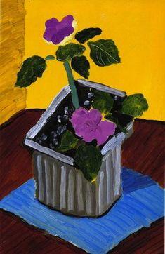 Hockney: Duas flores cor de rosa, 1989 Este quadro e uma boa demostração do que e natureza morta pois só estão representados objetos inanimados.