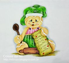 cook ginger doll painted on cloth canopy