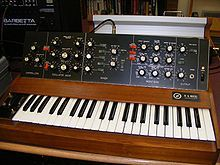 """A sound synthesizer (often abbreviated as """"synthesizer"""" or """"synth"""", also spelled """"synthesiser"""") is an electronic musical instrument that generates electric signals[citation needed] (waveforms) which can be converted to sound through loudspeakers or headphones. Synthesizers may either imitate other instruments or generate new timbres. They can be played (controlled) via a variety of different input devices, including keyboards, music sequencers and instrument controllers."""
