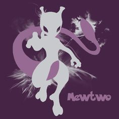 Mewtwo Silhouette Shirt by jewlecho  I think it looks better in black