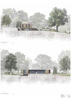 Image 17 of 17 from gallery of The Quest / Strom Architects. Elevations Image 17 of 17 from gallery of The Quest / Strom Architects. Coupes Architecture, Collage Architecture, Architecture Presentation Board, Architecture Board, Architecture Graphics, Architecture Visualization, Interior Architecture, Landscape Architecture Section, Ancient Architecture