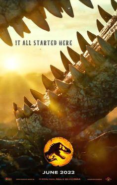 Jurassic World 3, Jurassic Park Film, Prehistoric Wildlife, Prehistoric Creatures, Movie Covers, World Images, Fantasy Creatures, Tg Tf, Jurassic Park