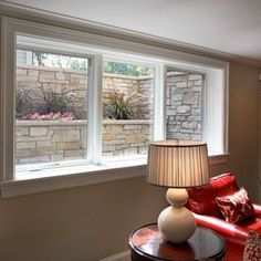Plenty of light for a comfortable basement - Traditional Family Room by Replacement Housing Services Consortium