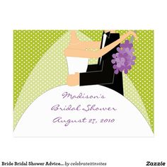 Bride Bridal Shower Advice Card