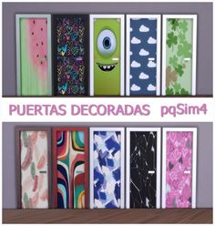 PQSims4: Decorated doors • Sims 4 Downloads