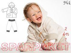 Papierschnitt Kombipaket Jacke Brio und Hose Lucca von pattern4kids - Schnittmuster für Baby- und Kinderkleider als ebook download oder Papierschnitt mit Nähanleitung auf DaWanda.com