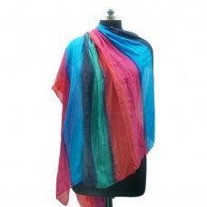 Multicolor silk scarf