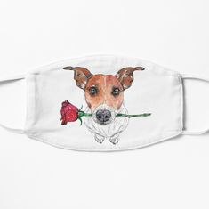 'George the hopelessly romantic Jack Russell Terrier' Mask by Kathryn Anne Rowe Make A Donation, Jack Russell Terrier, Mask Design, Snug Fit, My Arts, Romantic, Illustrations, Art Prints, Printed