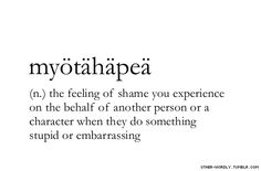 Myotahapea. I am overwhelmed by this feeling whenever i watch some t.v. shows lol its horrible