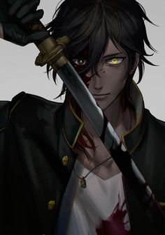 touken ranbu Part 1 - - Anime Image Anime Demon Boy, Evil Anime, Hot Anime Boy, Anime Sexy, Anime Boys, Cosplay Anime, Dark Anime, Touken Ranbu, Manga Boy
