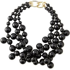 Kenneth Jay Lane Beaded Cluster Necklace ($125) ❤ liked on Polyvore