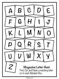FREEBIE Magazine Letter Hunt Worksheets, Literacy Center