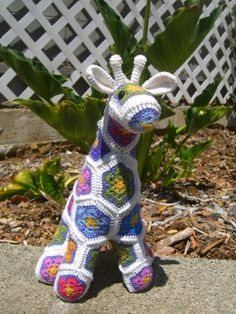 Colorful African Flower Giraffe by MACSROOM on Etsy, $65.00