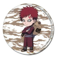 Department is Clothing, Jewelry, Button/Brooch. Primary color is Brown. Publisher is GE Animation. Series is Naruto Lucky Day, Anime Merchandise, Gaara, News Online, Naruto Shippuden, Primary Colors, Chibi, Color Schemes, Great Gifts