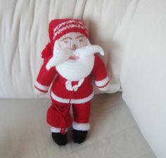 Knitted Christmas Santa Toy.  Ready to Ship  by earflaphats, $57.00