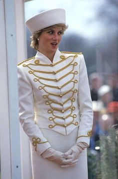 1987 ~ Princess Diana at the Military Academy Passing Out Parade.