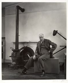 Edward Hopper, 1948 / photo by  Berenice Abbott / Gelatin silver print