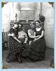 Frida Kahlo, Diego Rivera, Lucille y Arnold Blanch