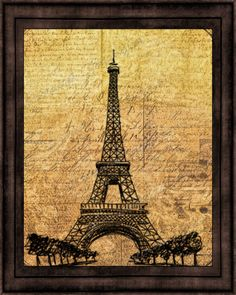Eiffel Tower Antique Typography Photographic by ChezLorraines, starting at $12.00.  #eiffeltower #frenchart #forthehome