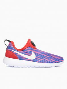 Roshe run crimson slip on GPX from the Summer Nike collection in electric red and blue