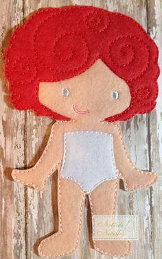 Felt Un Paper Emily Doll by NettiesNeedlesToo on Etsy, $6.00