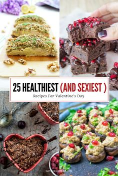 Spice up your romantic evening with these HEALTHY Valentine's Day Recipes - appetizers, entrees, and desserts that will trigger feel-good mood and make your date night special. CLICK to read more or PIN for later! *** natalieshealth.com #recipe #valentine