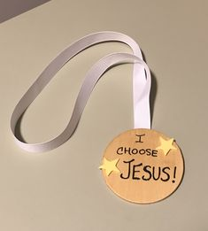 """I Choose Jesus"" Medal #ChildrensChurch  #Olympics #SundaySchool #WinterOlympics #UnitedFaithChurchBarnegatNJ"