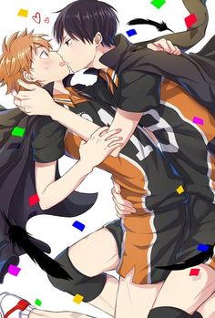 #Haikyuu Hinata and Kageyama~<3 *o* [credits:Pixiv Id 384095]