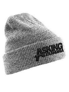 Asking Alexandria Logo Heather Grey Beanie.. I want!