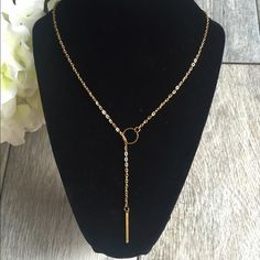 ✨✨Multilayer Necklace✨✨ Long strip multilayer long necklace. Measurement pictured. Brand new!! Took out to model only. Jewelry Necklaces