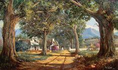 Artwork of Gabriël de Jongh exhibited at Robertson Art Gallery. Original art of more than 60 top South African Artists - Since Landscape Art, Landscape Paintings, Landscapes, Gabriel, South African Artists, Digital Illustration, Holland, Original Art, Canvas Art