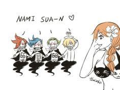 One Piece, Vinsmoke family, Ichiji, Niji, Sanji, Yonji, Nami
