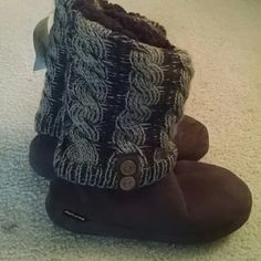 Mukluck Boots Brand new boots, tan and brown, soft, similar to uggs boots Mukluks Shoes