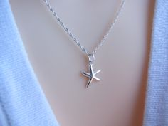 Sterling Silver Starfish necklace-  $22.80, via Etsy.