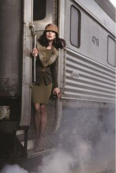in the new book SUMMER OF FIRE - they have to travel by train. Planes are grounded.