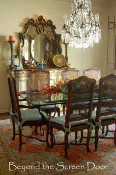 Fall Dining Room Centerpiece   Beyond the Screen Door