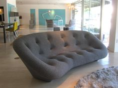 ligne roset, los angeles design festival & dwell on design. Ploum Ligne Roset, Dwell On Design, White Dining Table, Interior Architecture, Interior Design, Looks Cool, Floor Chair, Bean Bag Chair, Mid-century Modern