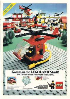 Lego City Fire station and helicopter ad (1982)
