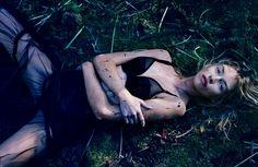 'The Garden Of Night' . Liz Hurley,  Eva Herzigova, Stella Maxwell And Many Others By Sølve Sundsbø For Love Magazine #14 .Fall.Winter 2015. 7