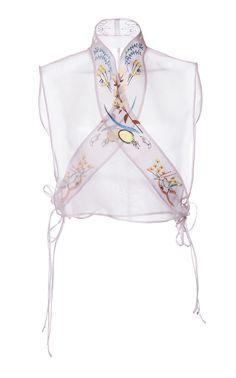 Get inspired and discover Mame Kurogouchi trunkshow! Shop the latest Mame Kurogouchi collection at Moda Operandi. Fashion Art, High Fashion, Fashion Outfits, Womens Fashion, Fashion Design, Silhouette Mode, Vestidos Vintage, Hanfu, Embroidered Silk