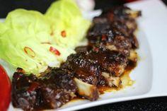 Żeberka w Sosie Śliwkowym Po Chińsku Polish Recipes, Meat Recipes, Polish Food, Steak, Pork, Beef, Cooking, Diet, Kale Stir Fry