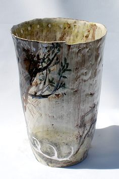 Ceramics by Jacqueline Leighton Boyce at Studiopottery.co.uk - 2011. -The stag lost one antler-