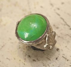 Silver and Green #jewlery #rings #gioielli #giuseppinafermi #accesories #madeinitaly